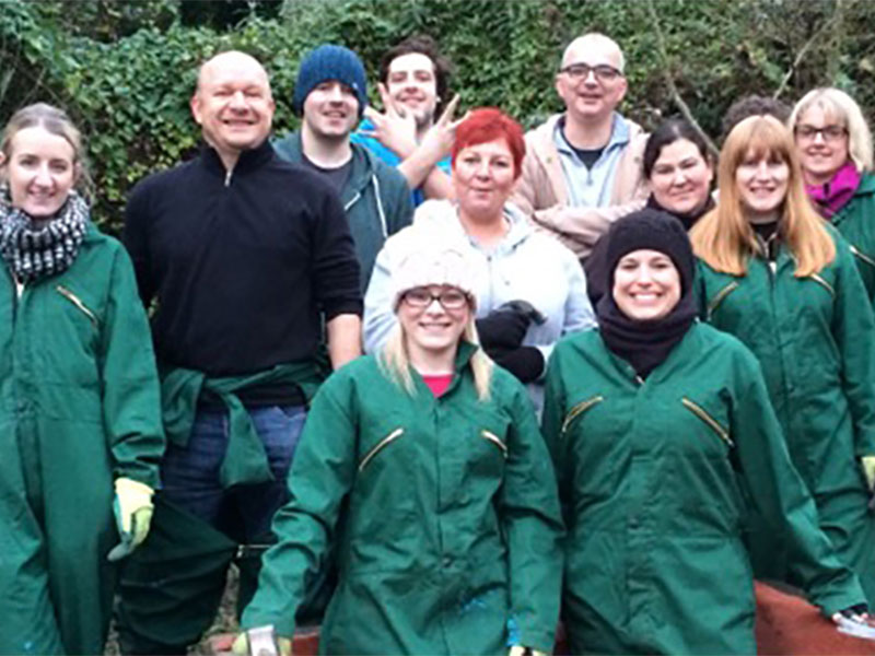 Volunteers at Whirlow Hall Farm
