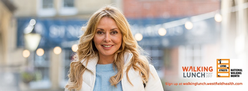 Carol Vorderman invites you for a Walking Lunch